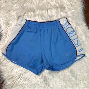 Nike Dri fit blue shorts just do it on the side